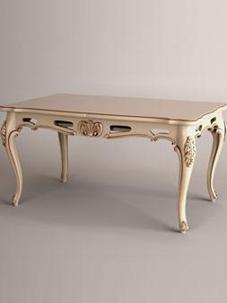 Представляем резной обеденный стол на шесть персон. Ножки кабриоль, ставшие популярными в 18 веке, придают этому резному обеденному столу более округлых изящных форм. Очень красиво смотрится в белом цвете с патиной. Возможно заказать кухонный гарнитур на шесть персон. В него будет входить резной обеденный стол и шесть резных кухонных стульев сделанных в одном стиле. Информация для заказа. Размеры: столешница — 1500x900мм.; высота стола — 760 мм.; возможны индивидуальные размеры; материал: ясень, дуб (дуб +20% стоимости); наличие: под заказ.