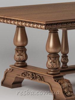 Представленный резной стол в гостиную Tb01g на 8/12 персон, изготавливается из натурального дерева ясеня или дуба. Такой стол придаст шикарный и богатый вид Вашей гостиной. Столешница комплектуется двумя специальными вкладками, которые позволяют разложить стол на 3300мм. Характеристики: минимальная длина столешницы — 1980мм.; максимальная длина столешницы — 3300мм.; ширина столешницы — 1220мм.; высота стола — 760 мм.; возможны индивидуальные размеры; материал: ясень, дуб (дуб +20% стоимости); цвет - под заказ; наличие - под заказ.