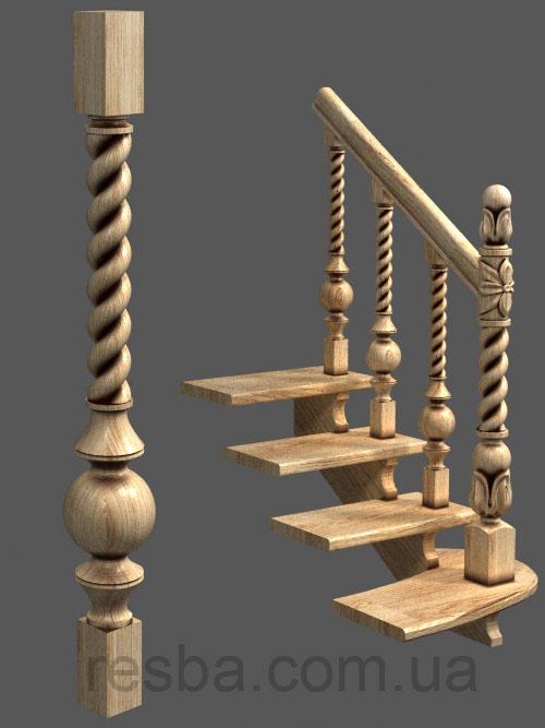 Балясины для лестницы, виды и особенности с фото