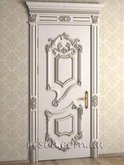 Межкомнатная или входная деревянная дверь D3-34. Возможно исполнение глухое или со стеклом. В стоимость входит дверное полотно 800х2000мм. из массива ясеня, дверная лутка шириной 100мм., наличники на одну сторону.