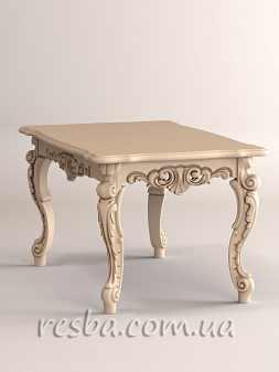 Представляем резной обеденный стол в гостиную на 6 персон. Ножки кабриоль, ставшие популярными в 18 веке, придают этому резному обеденному столу более округлых изящных форм. Очень красиво смотрится в белом цвете с патиной. Возможно заказать кухонный гарнитур со стульями. В него будет входить резной обеденный стол и шесть резных кухонных стульев сделанных в одном стиле. Информация для заказа. Размеры: столешница — 1400x900мм.; высота стола — 750 мм.; возможны индивидуальные размеры; материал: ясень, дуб (дуб +20% стоимости); наличие: под заказ.